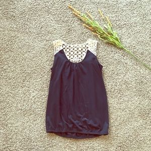 Navy and Lace Tank Top!